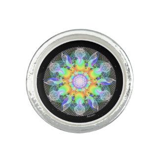 Ondulaciones de la conciencia anillo con foto