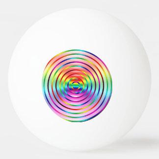 Ondulaciones del arco iris pelota de ping pong
