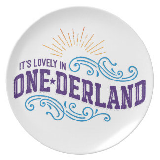 Onederland es placa preciosa de la melamina del plato