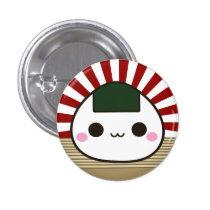 Onigiri feliz chapa redonda de 2,5 cm