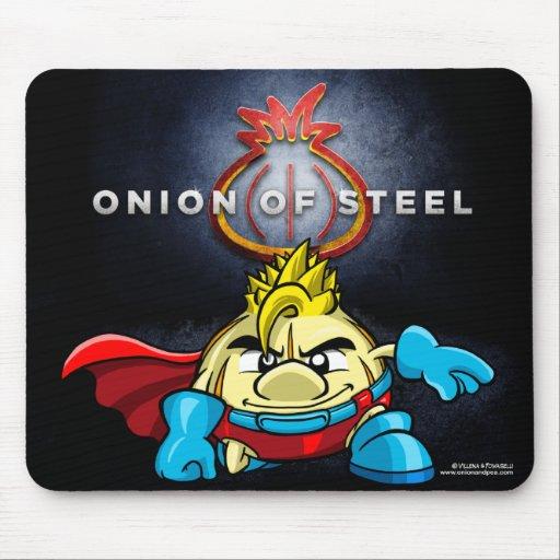 Onion of steel mousepad