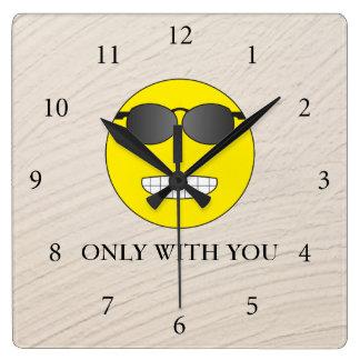 Only with you reloj cuadrado