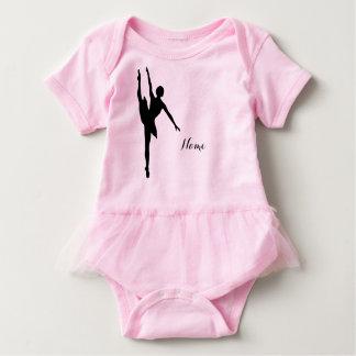 Onsie del ballet de la niña con los volantes body para bebé