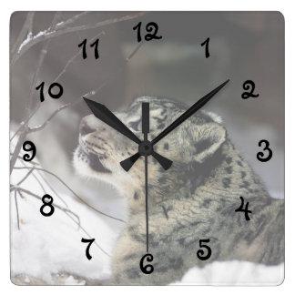 Onza serena reloj cuadrado