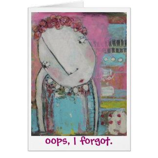 oops olvidé tarjeta de felicitación