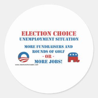 Opción de la elección - desempleo etiquetas