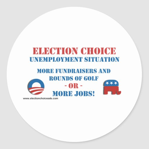 Opción de la elección - desempleo etiquetas redondas