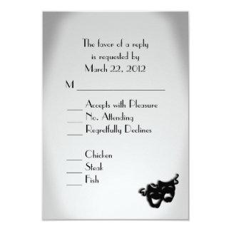 Opción del menú del boda del teatro invitación 8,9 x 12,7 cm