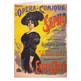 Ópera cómica Playbill 1897 Felicitación