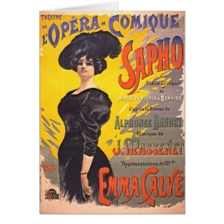 Ópera cómica Playbill 1897 Tarjeta De Felicitación