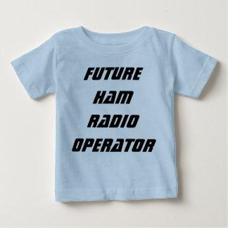 Operador de equipo de radio-aficionado futuro camiseta de bebé