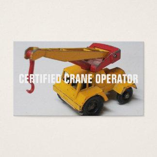 Operador de grúa certificado