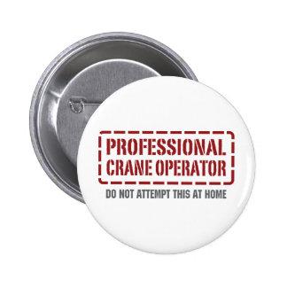 Operador de grúa profesional chapa redonda 5 cm
