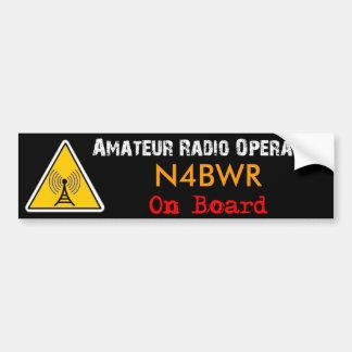 Operador de radio aficionado a bordo pegatina para coche