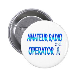 Operador de radio aficionado chapa redonda 5 cm