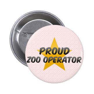 Operador orgulloso del parque zoológico pin