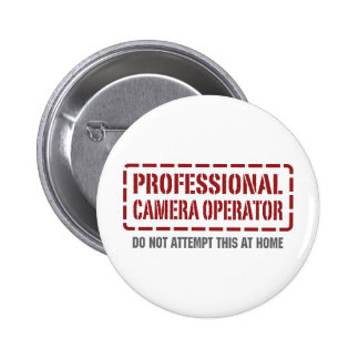 Operador profesional de la cámara chapa redonda de 5 cm