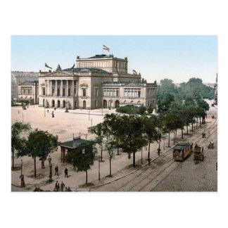 Opernhaus, teatro de la ópera, Leipzig, Alemania Postal