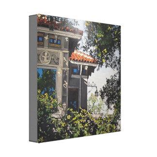 Opinión #1 del jardín impresión en lienzo
