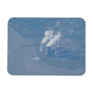 """Opinión aérea 3"""" de la central eléctrica"""" imán x4"""