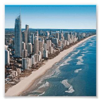 Opinión aérea de Gold Coast Australia Foto