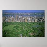 Opinión aérea el Central Park y el lado oeste Impresiones