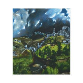 Opinión de El Greco del abrigo de la lona de Toled Lienzo Envuelto Para Galerías