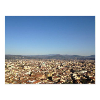 Opinión de Florencia desde arriba de la postal