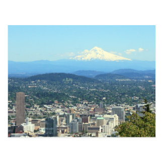 Opinión de la ciudad de Portland, Oregon, fondo de Postal