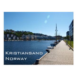 Opinión de la orilla en Kristiansand, Noruega Postal