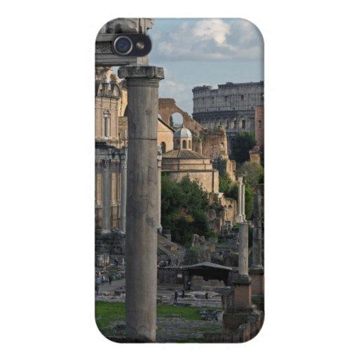 Opinión de Roma - Colosseum del foro iPhone 4 Carcasas