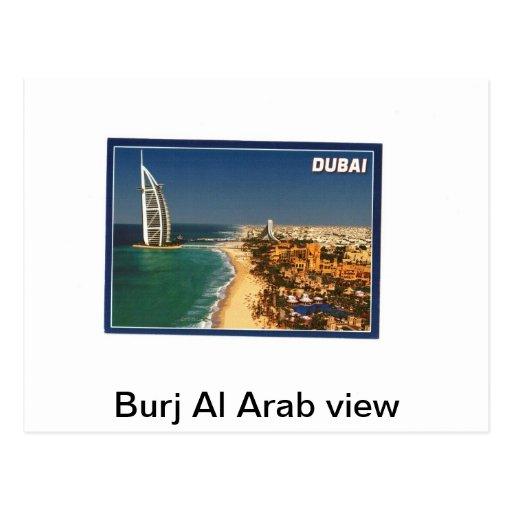 Opinión del árabe del Al de Burj Tarjeta Postal