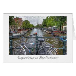 Opinión del puente del canal - enhorabuena en la tarjeta de felicitación