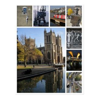 Opinión del retrato de la multi-imagen de Bristol Postal