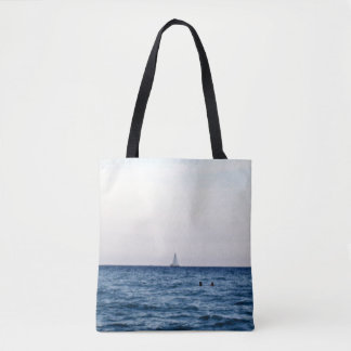 Opinión del velero del océano bolso de tela