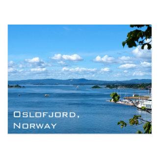 Opinión del verano de Oslofjord de Oslo, Noruega Postal