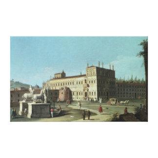 Opinión el Palazzo del Quirinale, Roma Impresión De Lienzo