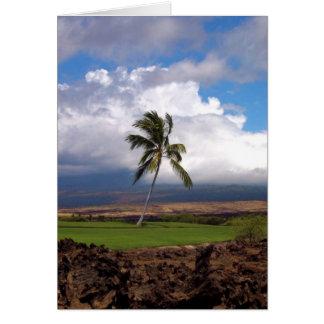 Opinión hawaiana del campo de golf tarjeta de felicitación