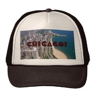 Opinión panorámica de Chicago Gorras De Camionero