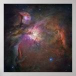 Opinión panorámica de Hubble de la nebulosa de Ori Poster