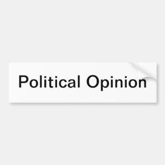 Opinión política etiqueta de parachoque