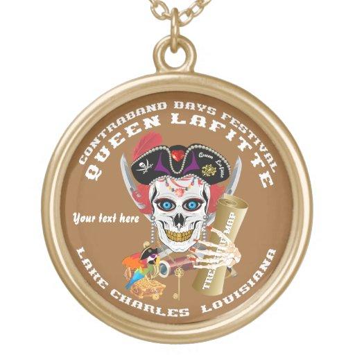Opinión redonda de Lafitte del pirata de la reina  Pendiente