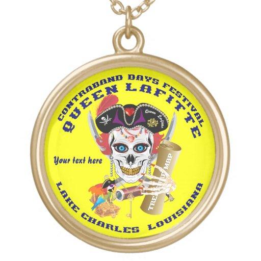 Opinión redonda de Lafitte del pirata de la reina  Colgante Personalizado