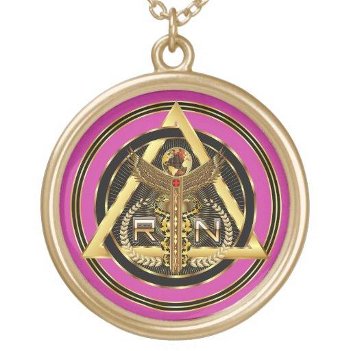 OPINIÓN redonda del logotipo médico de la enfermer Collar Personalizado