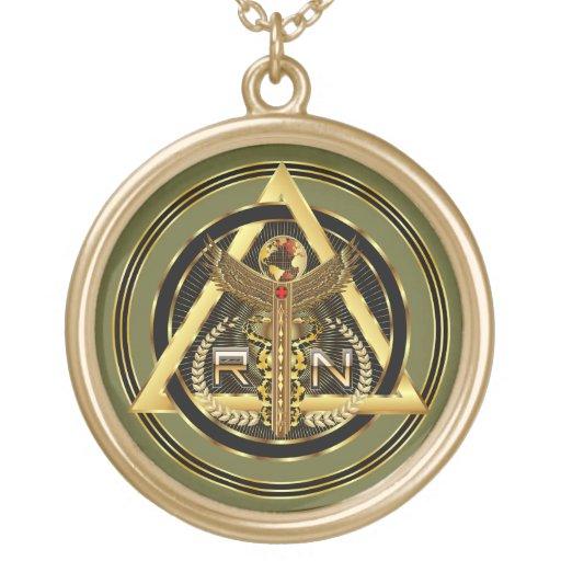 OPINIÓN redonda del logotipo médico de la enfermer Pendientes Personalizados