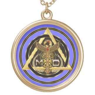 OPINIÓN redonda del médico logotipo solamente SOBR Collares Personalizados