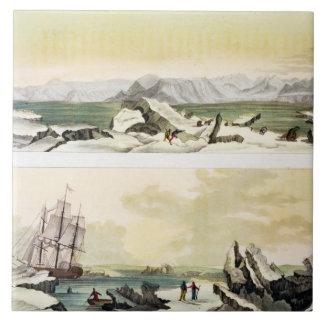 """Opinión Spitsbergen con """"el Dorothea"""" (en del colo Azulejo Cuadrado Grande"""