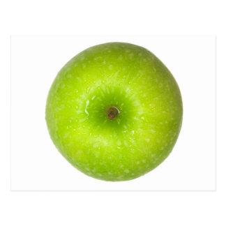 Opinión superior de la manzana verde postal