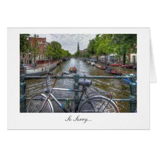 Opinión y bici del puente del canal - tan tristes tarjeta de felicitación