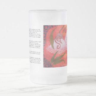Oposum de la miel que soña el vidrio esmerilado taza de cristal
